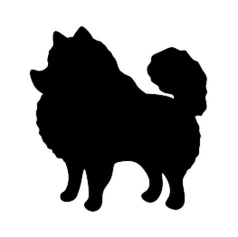 pomeranian silhouette new silhouettes pomeranian poodle and more