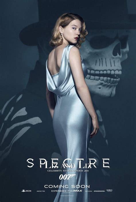 Léa Seydoux Grey Satin Celebrity Dress Movie Spectre 007 James Bond Girl