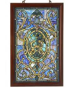 purple tiffany style ls window panels stained glass and arts crafts on pinterest