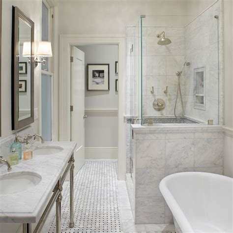 bathroom marble tile marble basketweave tile floor transitional bathroom
