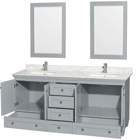 accmilan 72 inch double sink bathroom vanity in grey
