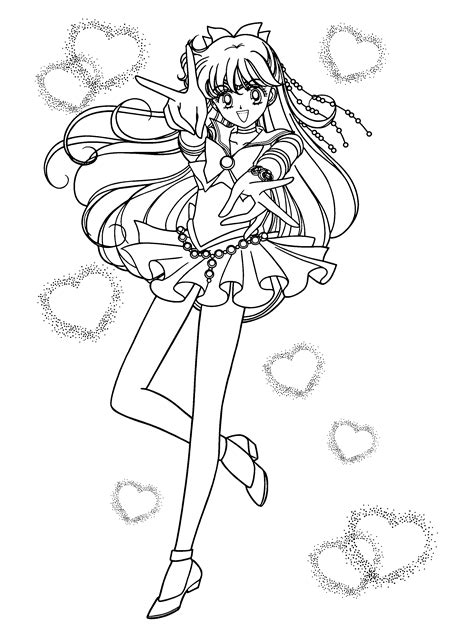 sailor venus coloring page sailor moon pinterest