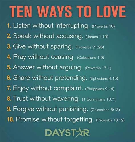10 ways to love bible 10 ways to love