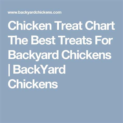 Backyard Chickens Chart 25 Best Ideas About Chicken Treats On