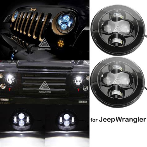 Led Headlights For Jeep Wrangler Jk Aliexpress Buy H4 7 Inch Led Headlight For