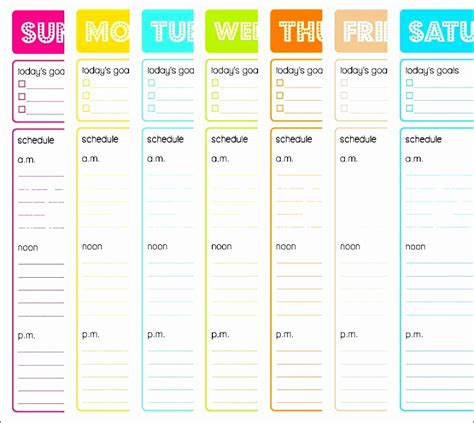 top 10 list template www imgkid the image kid has it 9 excel daily schedule template exceltemplates