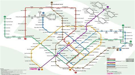 singapore mrt map singapore mrt lrt map 2016