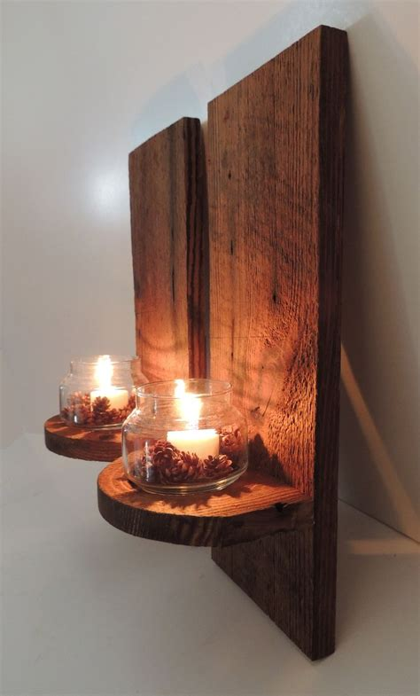 Wood Wall Sconce Reclaimed Barn Wood Wall Sconces Rustic Decor Pinterest Sconces Wall Sconces And Barn