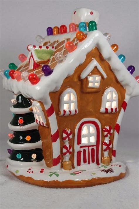ceramic gingerbread house with lights 203 best gingerbread galore images on