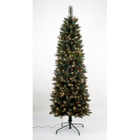 walmart pencil christmas trees artificial 7 pre lit yorkville pine pencil artificial tree clear lights walmart