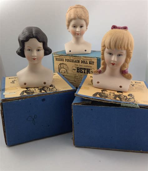 porcelain bisque doll kits vintage shackman bisque porcelain doll kits set