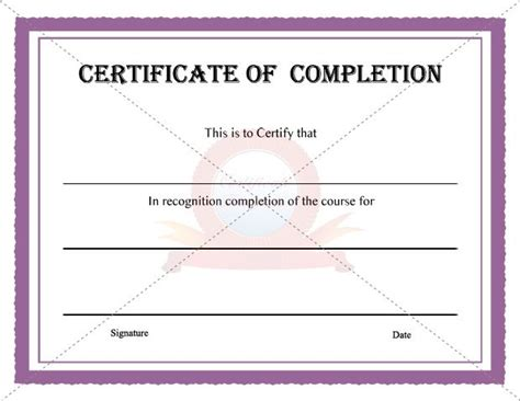 certificate template for project completion 10 best images about completion certificate on