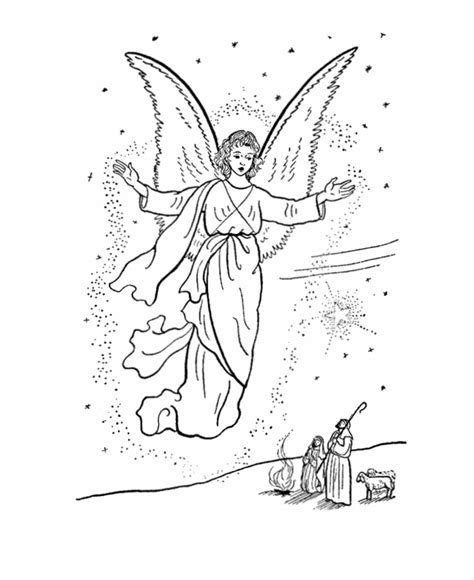 angels visit shepherds coloring page 193 ngeles para colorear gratis