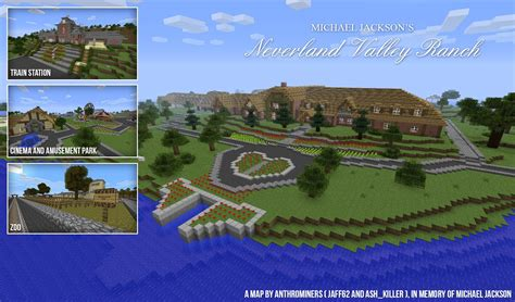 Hous Eplans by Michael Jackson S Neverland Ranch Minecraft Maps