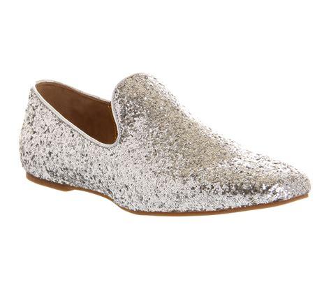 womens ted baker heraki slipper silver glitter flats ebay