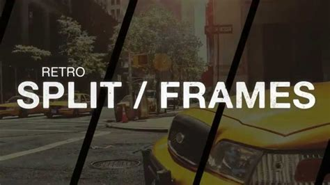 Retro Split Frame Slideshow After Effects Template Youtube Split Flap After Effects Template