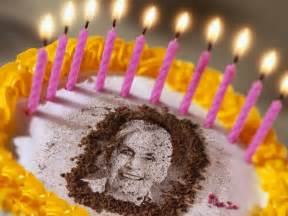 Birthday Cake Photos Personal Photo On Birthday Cake A Greeting Card
