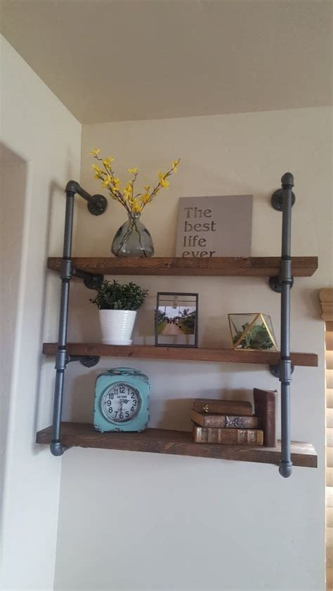 wood and pipe shelves best 25 industrial pipe shelves ideas on pipe