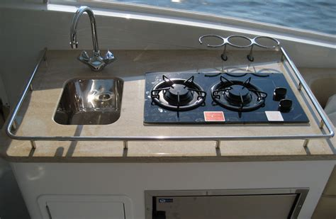 Propane Cooktop Eastport 32 Concept To Creation New Boating