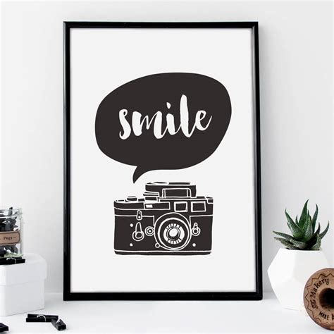 typography print smile typography print by the motivated type notonthehighstreet