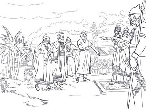 shadrach meshach and abednego coloring page shadrach meshach abednego coloring books coloring pages