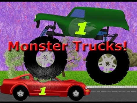 monster truck videos kids youtube monster trucks teaching children numbers and crushing cars