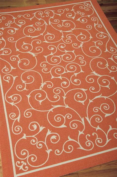 orange outdoor rug home and garden rs19 orange outdoor rug by nourison