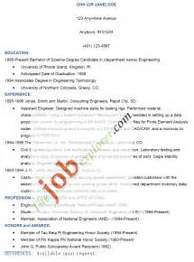 Format Of Cover Letter With Resume by Resume Pattern Pdf Bestsellerbookdb