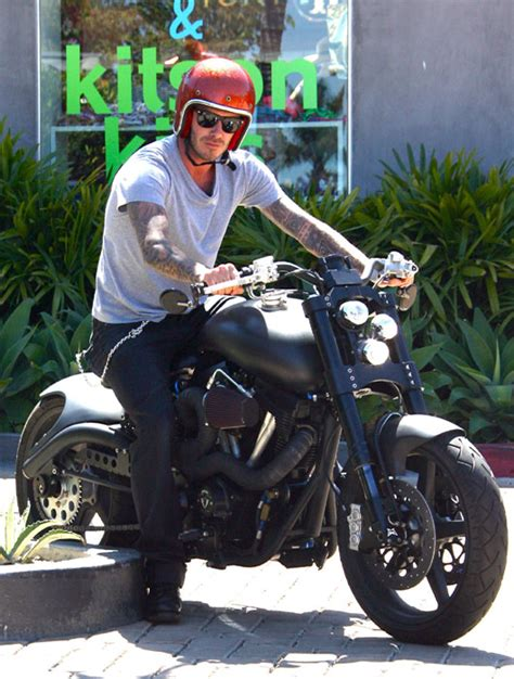 david beckham leaves la sporting a bandage after motorbike