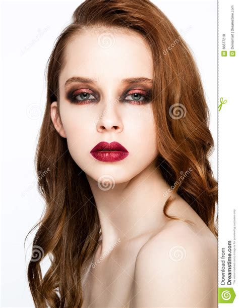 what kind of makeup does ginger z from good morning america wear beauty fashion model ginger hair and red makeup stock