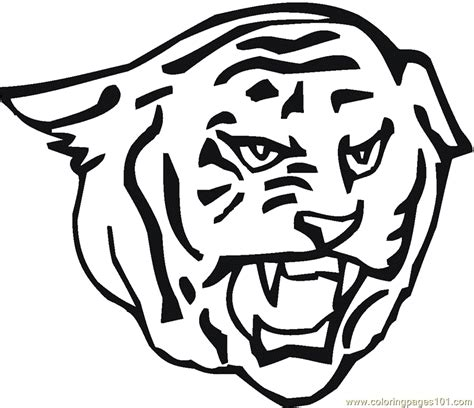 tiger head coloring page free tiger coloring pages