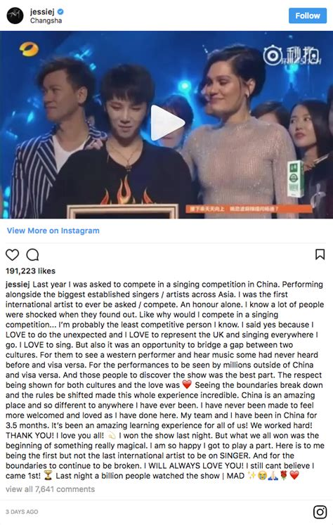 Sends A Message To Fans by J Just Won Singer A Reality Show In China