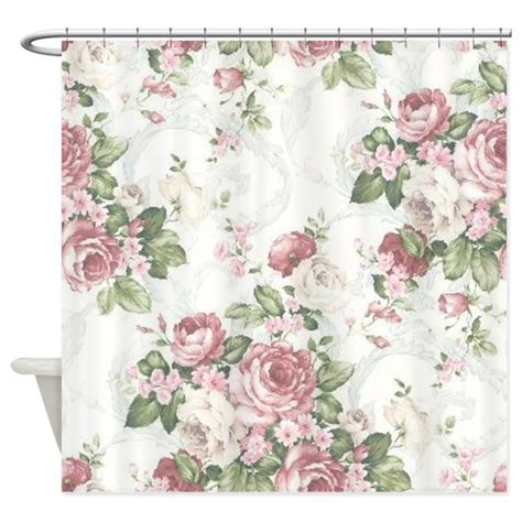 vintage flower curtains vintage flowers shower curtain by cheriverymery