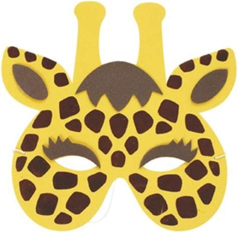 New Home Party Decorations giraffe soft foam face mask for kids 20021gi