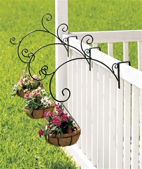 coco lined rail mount planter the lakeside collection