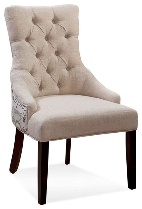 bassett mirrors fortnum tufted nailhead parson chair set