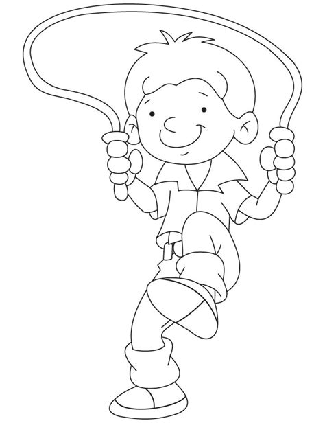 boy jumping coloring page jump rope coloring pages coloring home