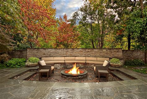 sunken backyard pit sunken seating areas that spark conversations
