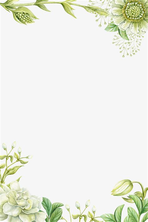 Wedding Border Green by Green Flower Borders Www Pixshark Images Galleries