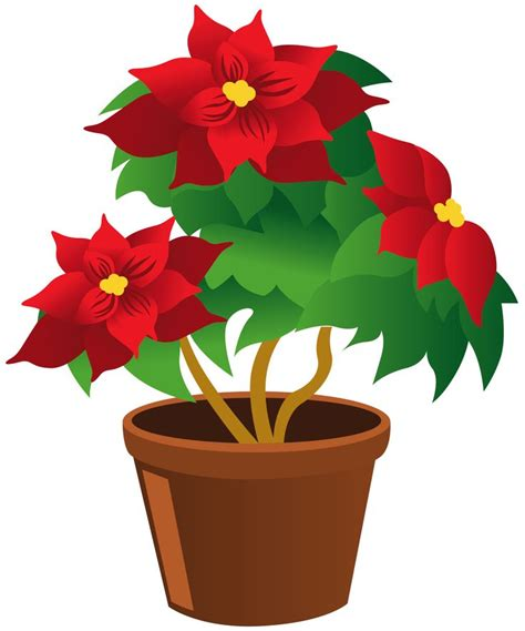 pot plant clipart flowering plant pencil and in color