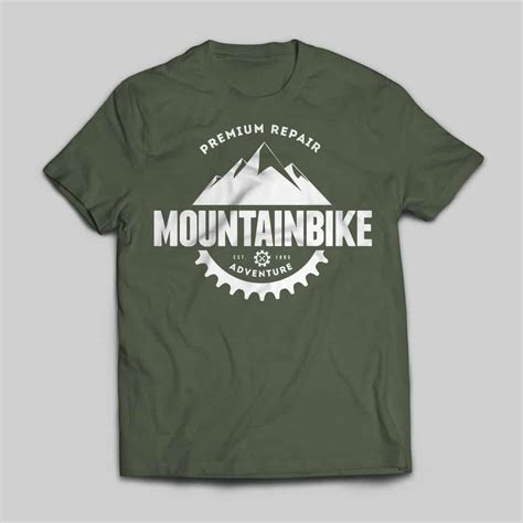 T Shirt Bike mountain bike t shirt virtue theme