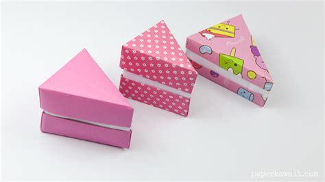 Origami Cake - origami cake slice box paper kawaii