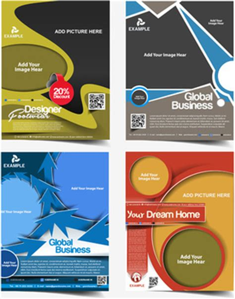 corel draw templates for brochures free template flyers corel draw free vector download
