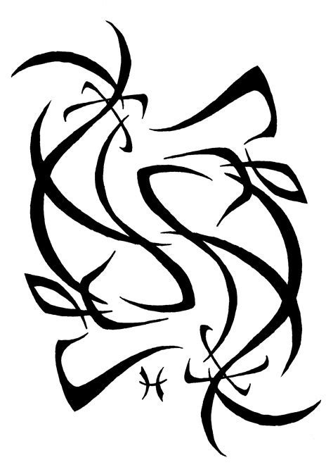 pisces tribal tattoo 40 pisces design ideas for and