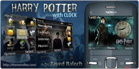 nokia c3 themes with clock harry potter with clock nokia c3 theme hasan baloch