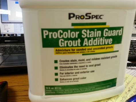 spotlight procolor stain guard grout additive southside