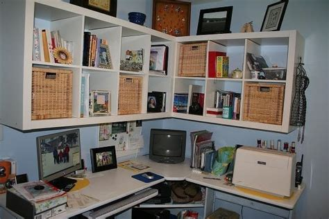 craft room wall ikea expedit shelves hanging on wall craft room ideas