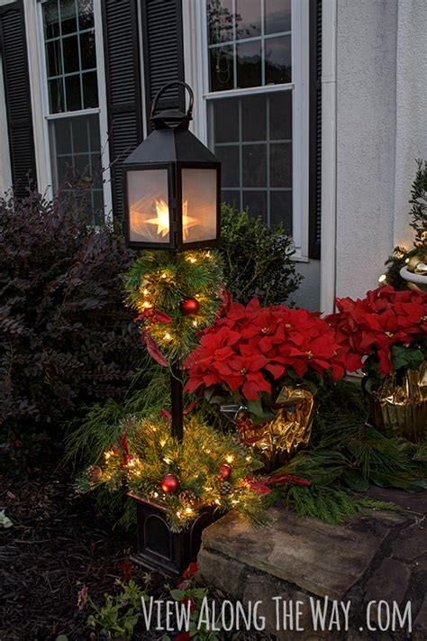 home depot christmas decoration ideas our christmas porch the home depot challenge view