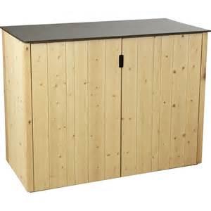 armoire de jardin en bois vertigo 0 6 m 179 leroy merlin