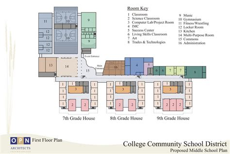 middle school floor plans view newsletter